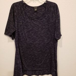 Torrid blouse black w/ the speed of light lines 2x